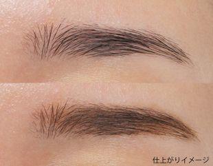 リンメル プロフェッショナル 3Dブロウ マスカラ 001 なじみながら眉毛が際立つナチュラルブラウン 5.5ml の画像 2