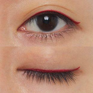 リンメル エグザジェレート ラスティングリキッド アイライナー WP 104 鮮やかに目元を引き立てるチェリーレッド【限定色】 0.5ml の画像 1