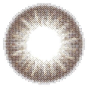 カラーズ colors マンスリー 2枚/箱 (度なし) ナチュラルダークブラウン の画像 1