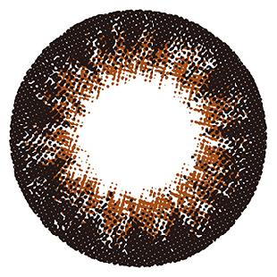 ミラージュ ミラージュ マンスリー 2枚/箱 (度なし) チョコブラウン の画像 1