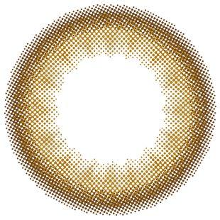 リルムーン リルムーン マンスリー 2枚/箱 (度なし) ヌードチョコレート の画像 1