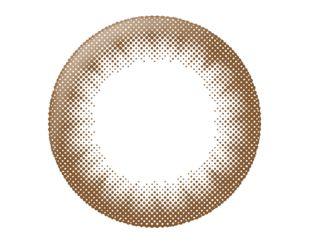 リルムーン リルムーン ワンデー 30枚/箱 (度なし) チョコレート の画像 1