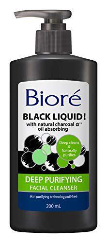 ビオレ ビオレ Biore ブラックリキッド フェイシャルクレンザー クール 200mlの画像