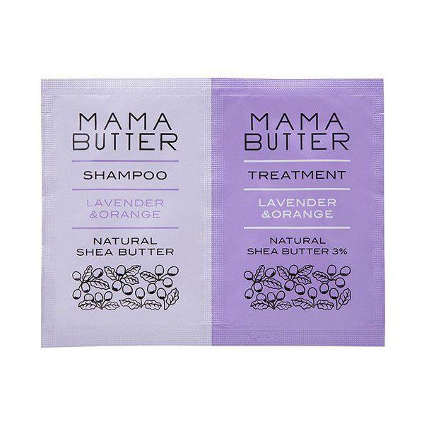ママバターのママバター MAMA BUTTER ママバター シャンプー&トリートメント ラベンダー&オレンジ 2連パウチ 各10mlに関する画像 1
