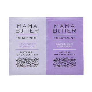 ママバター ママバター MAMA BUTTER ママバター シャンプー&トリートメント ラベンダー&オレンジ 2連パウチ 各10mlの画像