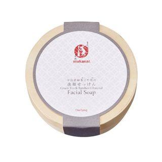 まかないこすめ まかないこすめ Makanai Cosmetics  宇治産緑茶と竹炭の洗顔せっけん 本体 100g 糸杉(サイプレス)の香りの画像