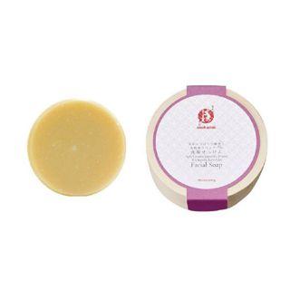 まかないこすめ まかないこすめ Makanai Cosmetics  日本みつばちの蜂蜜と無農薬ラベンダーの洗顔せっけん 本体 100g ラベンダーの香りの画像