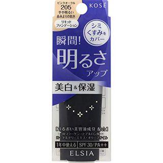 エルシア エルシア プラチナム 明るさアップ リキッドファンデーション SPF30 PA++ 本体 205 ピンクオークル やや明るい赤みよりの肌色 25g 無香料の画像