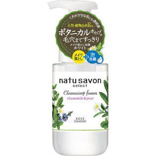 ソフティモ natu savon select(ナチュサボン セレクト) ホワイト クレンジングフォーム 本体 200ml 心地よいカモミール&ペアの香りの画像