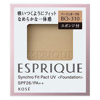 エスプリーク エスプリーク ESPRIQUE シンクロフィット パクト UV SPF26 PA++ リフィル 【BO-310】ベージュオークル 9.3g なめらか 無香料の画像