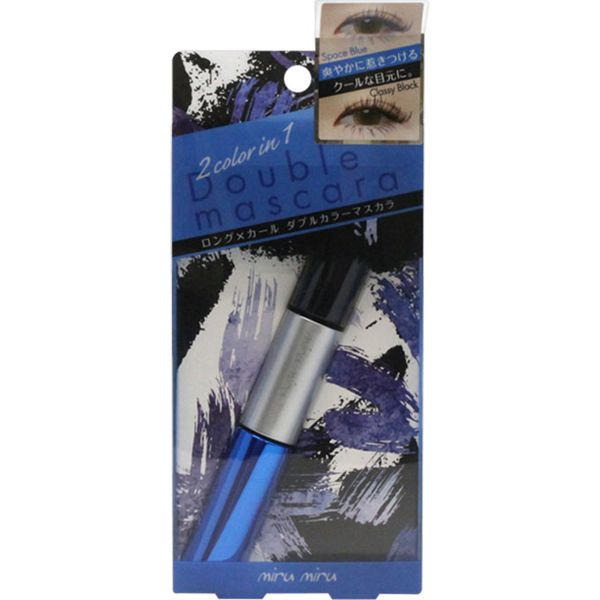 miru miruのダブルカラーロングラッシュマスカラ 01 クラッシーブラック/スペースブルー 6.5g+5.0gに関する画像1