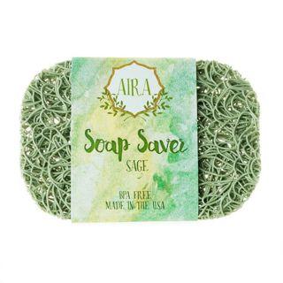 AIRA AIRA ナチュラルソープディッシュ トウモロコシと大豆由来の環境にやさしい石鹸置き SAGE(ナチュラルグリーン) ナチュラルグリーン 23gの画像
