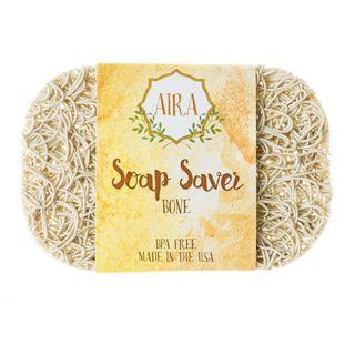 AIRA AIRA ナチュラルソープディッシュ トウモロコシと大豆由来の環境にやさしい石鹸置き BONE(ベージュ) ベージュ 23gの画像