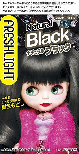 フレッシュライト フレッシュライト ミルキー髪色もどし 本体 ナチュラルブラック 60g+60mLの画像