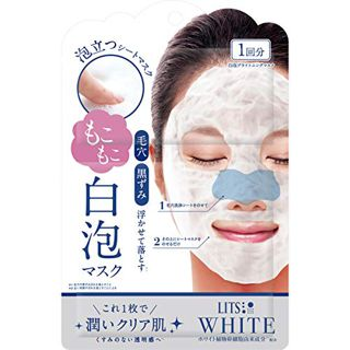 LITS リッツ LITS ホワイト もこもこ白泡マスク 1枚の画像