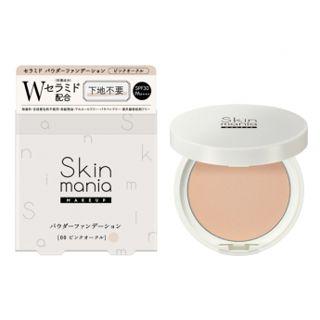 ロゼット Skin mania セラミド パウダーファンデーション 00 ピンクオークル 10g SPF30 PA++++の画像