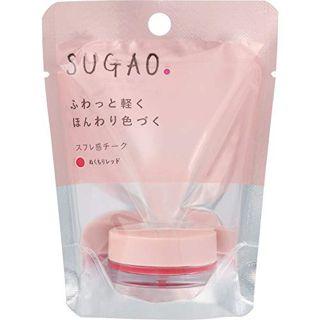 SUGAO スフレ感チーク  ぬくもりレッド 4.8gの画像
