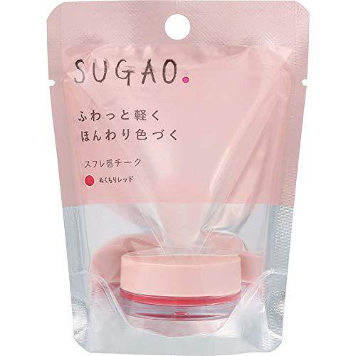 SUGAOのスフレ感チーク  ぬくもりレッド 4.8gに関する画像1