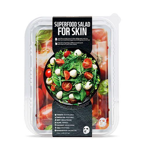 FARMSKINのスーパーフードサラダフォ-スキン パッケージA (トマト) 1枚/25ml 7種セットに関する画像1