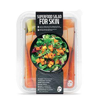 FARMSKIN スーパーフードサラダフォ-スキン パッケージB (キャロット) 1枚/25ml 7種セットの画像