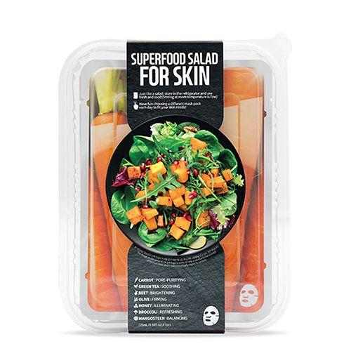 FARMSKINのスーパーフードサラダフォ-スキン パッケージB (キャロット) 1枚/25ml 7種セットに関する画像1
