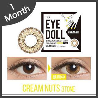 リルムーン EYE DOLL 1ヶ月 2枚/箱 (度なし) クリームナッツの画像