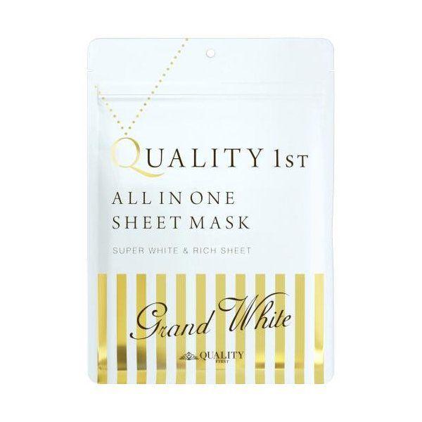 クオリティファースト QUALITY 1ST オールインワンシートマスク グランホワイト 本体 7枚入りのバリエーション1