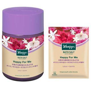 クナイプ クナイプ バスソルト ハッピーフォーミー ロータス&ジャスミンの香り 850gの画像