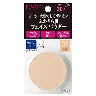 ファシオ ファシオ Fasio ラスティング フェイスパウダー WP SPF30 PA++ リフィル 【02】 ミディアムベージュ 5.5g さらさら 無香料の画像