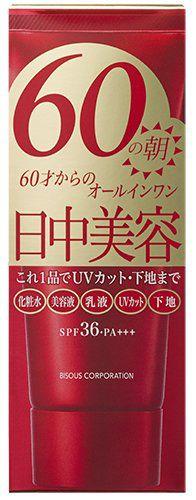 ビズーコーポレーション ビズー 60の朝 <保湿ジェルクリーム・化粧下地> 80g 無香料 SPF36・PA+++の画像