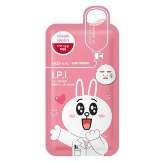 null メディヒール × ラインフレンズ I.P.I ライトマックス アンプル マスク 1枚 韓国コスメ MEDIHEAL LINE FRIENDS ライン IPI パック メール便の画像