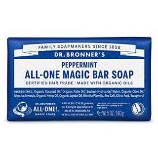 ドクターブロナー ドクターブロナー Dr. Bronner`s マジックソープバー ペパーミント 140g 爽快なミントの香りの画像