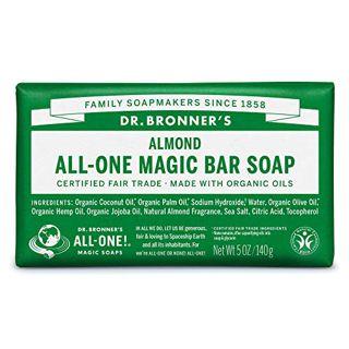 ドクターブロナー ドクターブロナー Dr. Bronner`s マジックソープバー アーモンド 140g ナッツのような甘い香りの画像