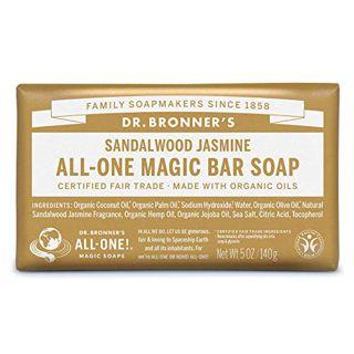 ドクターブロナー ドクターブロナー Dr. Bronner`s マジックソープバー サンダルウッド&ジャスミン 140g 甘くオリエンタルな香りの画像