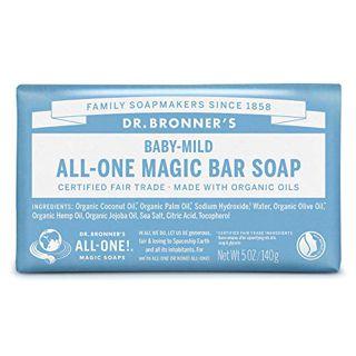 ドクターブロナー ドクターブロナー Dr. Bronner`s マジックソープバー ベビーマイルド(香りなし) 140g 無香料の画像