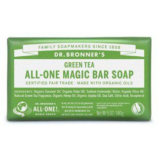 ドクターブロナー ドクターブロナー Dr. Bronner`s マジックソープバー グリーンティ 140g ほのかに甘く清々しい香りの画像