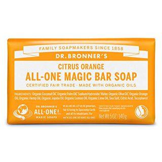 ドクターブロナー ドクターブロナー Dr. Bronner`s マジックソープバー シトラスオレンジ 140g フレッシュな柑橘の香りの画像