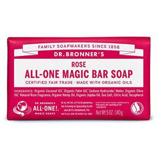 ドクターブロナー ドクターブロナー Dr. Bronner`s マジックソープバー ローズ 140g やさしいローズの香りの画像