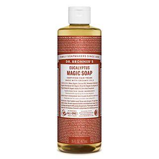 ドクターブロナー ドクターブロナー Dr. Bronner`s マジックソープ ユーカリ 473ml 透明感のあるシャープな香りの画像