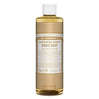 ドクターブロナー ドクターブロナー Dr. Bronner`s マジックソープ サンダルウッド&ジャスミン 473ml 甘くオリエンタルな香りの画像