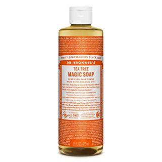 ドクターブロナー ドクターブロナー Dr. Bronner`s マジックソープ ティートゥリー 473ml クリアで清潔感のある香りの画像