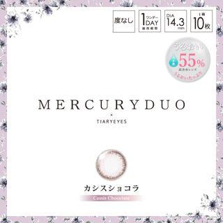 マーキュリーデュオ MERCURYDUO ワンデー 10枚/箱 (度なし) カシスショコラの画像