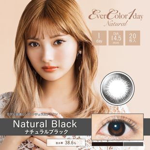 エバーカラー エバーカラー ワンデー ナチュラル 20枚/箱 (度なし) ナチュラルブラック の画像 0