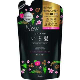いち髪 いち髪 Ichikami なめらかスムースケア コンディショナー コンデショナー詰替え 340g みずみずしく可憐な山桜七分咲きの香りの画像
