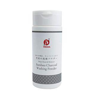 まかないこすめ まかないこすめ Makanai Cosmetics  汚れを吸着、キレイにうるおう 竹炭の洗顔パウダー 本体 50gの画像