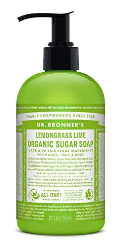 ドクターブロナー ドクターブロナー Dr. Bronner`s オーガニックシュガーソープ レモングラスライム 本体 355ml レモンのような爽やかな香りの画像