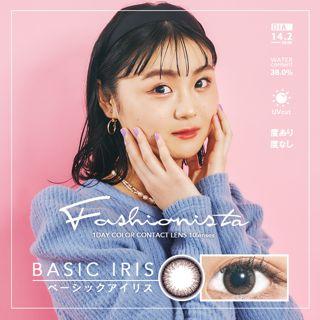 ファッショニスタ Fashionista ワンデー 10枚/箱 (度なし) ベーシックアイリスの画像