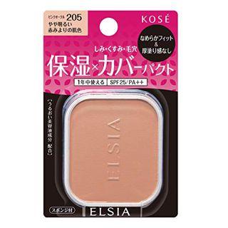 エルシア エルシア プラチナム モイストカバー ファンデーション SPF25 PA++ リフィル 【205】 ピンクオークル やや明るい赤みよりの肌色 10g なめらか 無香料の画像