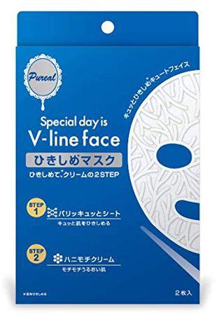 ピュレア Vライン ひきしめマスク 2枚入り の画像 0