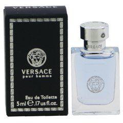ヴェルサーチのヴェルサーチ VERSACE ミニ ヴェルサーチ プールオム 5ml EDT BT あすつく 香水に関する画像1